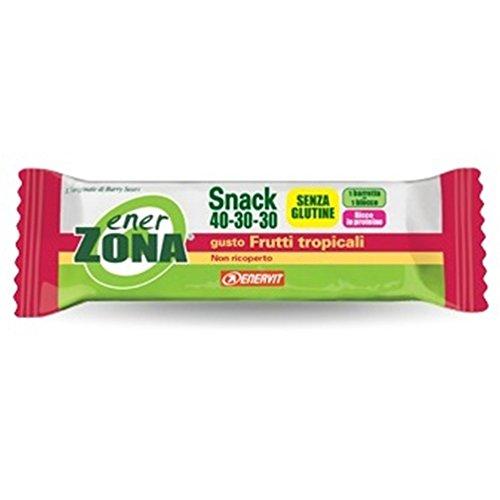 EnerZona Snack 40-30-30 Frutti Tropicali Non Ricoperta 1 Barretta 23 gr - 41FKP0OFfbL