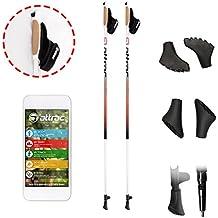 Nordic Walking Stöcke Aluminium inklusive Handgelenkschlaufen mit CLICK & GO System   GRATIS - Nordic Walking/Fitness App