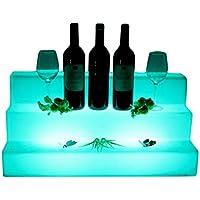 Terraced vino accesorio de cambio de color 65 cm x 30 cm x 30 cm la mitad Hollow Out caja de hielo cubo lámpara de luz, LED soportes para champán, vino, ...