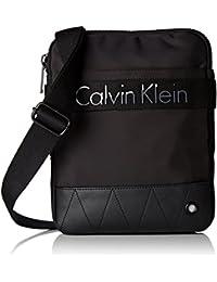 Calvin Klein Jeans Madox Flat Crossover, Bolsa para Hombre, Negro (Black), 4 x25 x25 cm (B x H x T)