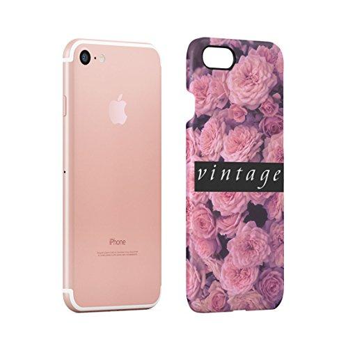Fuck You Very Much Pink Roses Pattern Dünne Rückschale aus Hartplastik für iPhone 7 & iPhone 8 Handy Hülle Schutzhülle Slim Fit Case cover Vintage Pink