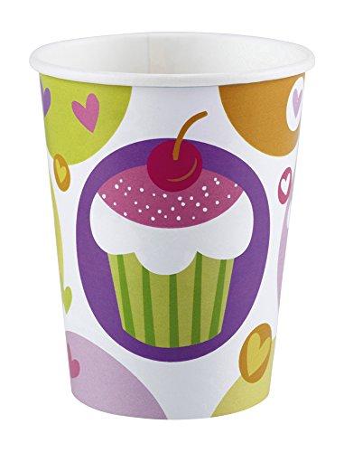 KAS997211 Cupcake Party Dekorations Artikel - 8 Becher !!! (Cupcake Party Becher)