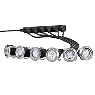6 X LED Einbaulampen Terrassenlampen, Bodenlampen, Einfahrt Einbaustrahler Terrasse, Bodenstrahler Möbellampen, Gartenstrahler, Gehweg Treppe Beleuchtung,