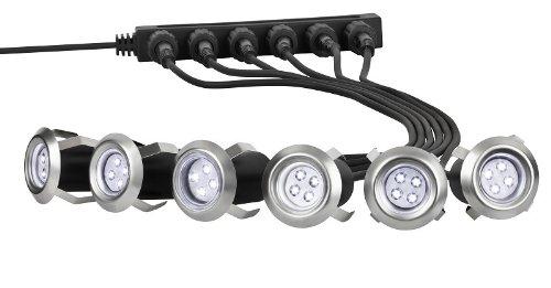 6 X LED Einbaulampen Terrassenlampen, Bodenlampen, Einfahrt Einbaustrahler Terrasse, Bodenstrahler Möbellampen, Gartenstrahler, Gehweg Treppe Beleuchtung, - Sechs Lampen Bad Möbel
