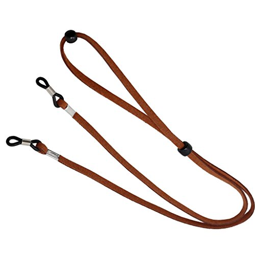 "MagiDeal Adjustable Eyeglasses Sunglasses Rope Neck Cord Glasses Faux Leather String Holder Retainer ,4mm , 27"" - #1, 27"""
