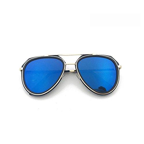 GHCX Mode Sonnenbrillen Hipster Kreative Modelle Männlich UV-Schutz Objektiv Weibliche Modelle Freizeit Radfahren Blending Bunte Ozean Filme Objektiv Fashion,C-OneSize