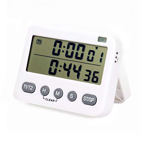 Eieruhr Digital Küchentimer Magnetisch LCD Bildschirm Doppel Timer Digital Lauter Piepser Kurzzeitmesser Eieruhr Ideal Küchenuhr Timer zum Kochen Backen Sport Studieren