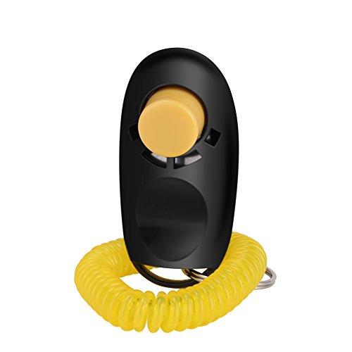GHB Ultraschall Hundepfeife Whistle für Hunde Training Haustier Training Frequenz einstellbar Inklusive Umhängeband und Hundeclicker Schwarz - 2