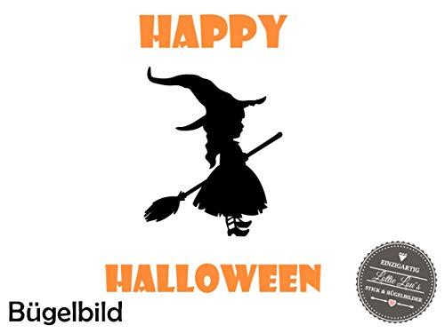 r Halloween Hexe Witch Besen Broom in Flex, Glitzer, Flock, Effekt in Wunschgröße ()