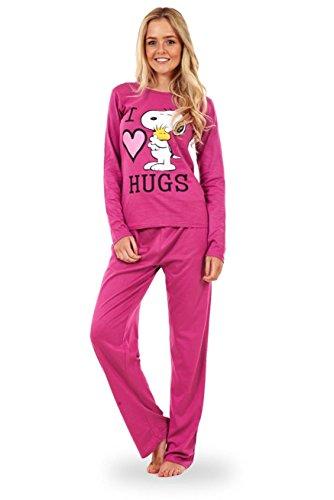 Snoopy – Conjunto de pijama Snoopy de manga larga para mujer Pijama de Mickey o de Minnie Mouse para mujer