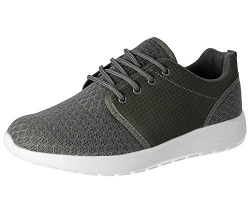 Foster Schuhe Damen 816109Galopp (Tanz) Mesh-Spitze bis Trainer Leichten Casual Comfort Sport Gym Laufschuhe, Grau - Grau - Größe: 40 (Galopp Stiefel)