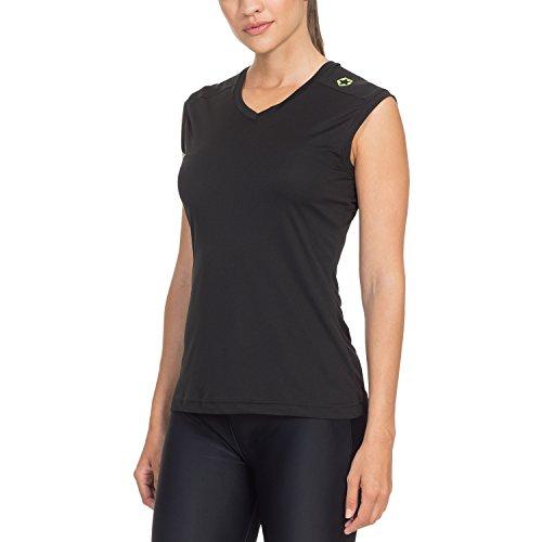 Gregster Damen Fitnesstop, Schwarz, M, 12188-001