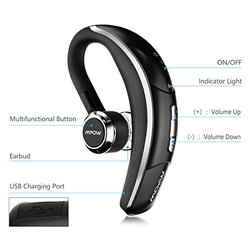 Cuffie bluetooth senza fili Mpow auricolare con CLEAR VOICE Capture  tecnologia Bluetooth vivavoce auricolari Bluetooth per iPhone 7 7 Plus 6S  6S Plus ... 61913280c721