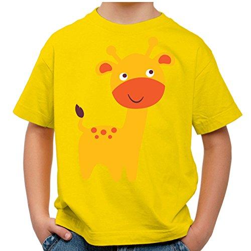 Raxxpurl Süße Giraffe Fun Kinder T-Shirt_gelb_110/116 (T-shirt Farm Gelb)