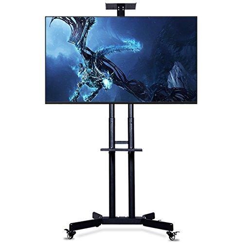cnyf PTS002Rolling TV Cart Mobiler TV-Ständer für 101,6-165,1cm flach Bildschirm, LED, LCD, OLED, Plasma, Curved TV 'S-Universal-Halterung mit Rollen -