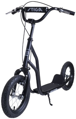 Stiga Sports Air Scooter, Schwarz, 12 Zoll