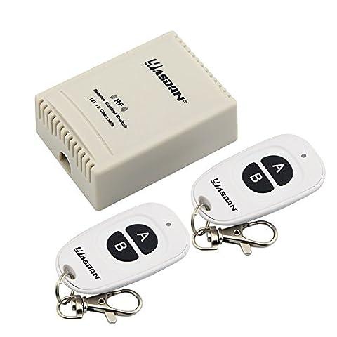 Yasorn DC 12V 2 Channel Relais Télécommande RF Sans Fil 433Mhz 2 Émetteurs 1 Récepteur