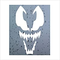 1 x Venom-WHITE-Car,Van,Door,Decal,Window,Sticker,Sign,Internal,External,Evil,Dark,Spiderman,Marvel,Spider,Web,Webs,Super,Hero,Villon,Monster,Green,Goblin