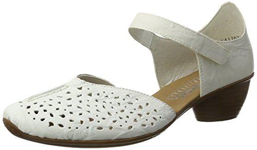 Rieker 43795, Escarpins femme Blanc (Weiss / 80)