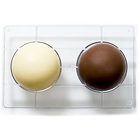 Decora Stampo Cioccolatino 1/2 Sfera, Policarbonato, Trasparente,