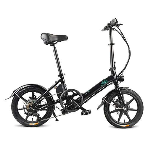 Faltbares Elektrofahrrad IIDO D3s - DREI Geschwindigkeitsmodi,Klapprad Pedelec Mit Lithium-Akku (250W, 36V),16 Zoll Reifen,Verstellbarer Sitz,mechanische Scheibenbremse | 130 Cm X 57 Cm X 105 Cm