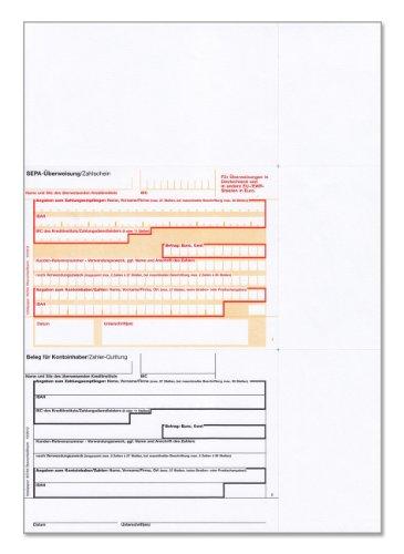bits&paper BP0257 SEPA-Überweisung/Zahlschein (250 Blatt, A4, bankneutral) Überweisung mt Quittung