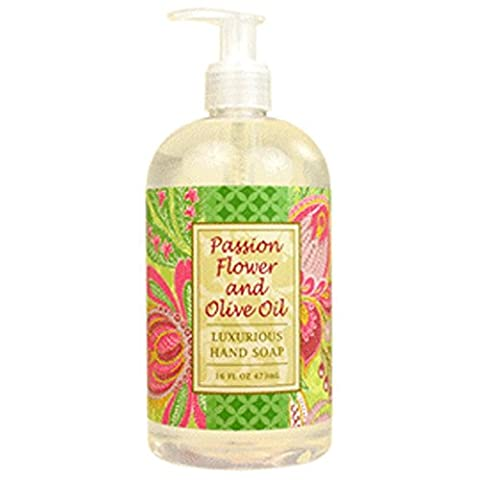 Greenwich Bay Passion Flower and Olive Oil Shea Butter Hand Soap Enriched with Cocoa Butter 16 oz by Greenwich Bay Trading Company