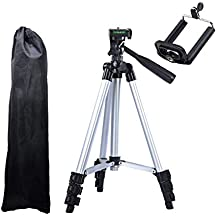 Coku TPD-3110-S Portable Travel Lightweight Aluminum Tripod for Mobile Phone with Nylon Carry Case   Smartphone Mount for All Smartphone & DSLR Camera