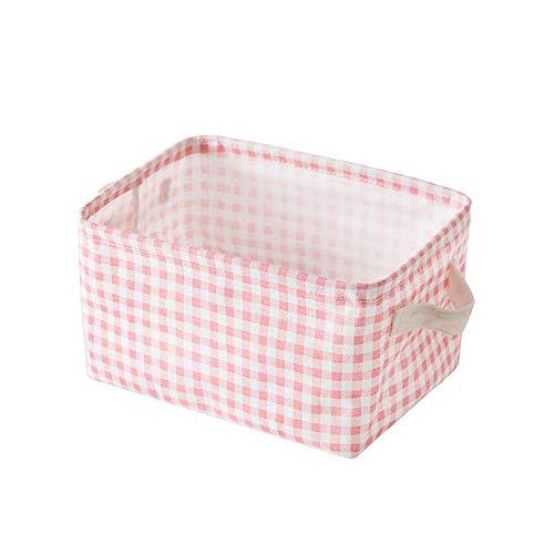 ätze Wasserdichte Baumwolle und Leinen Kinder Wäscherei/Kinderzimmer Boxen für Regale/Geschenkkörbe/Toy Organizer/Baby Room Decor,small ()
