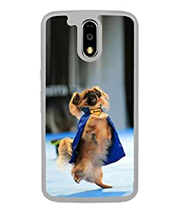 PrintVisa Dancing Bruno Dog High Gloss Designer Back Case Cover for Moto G Play (4th Gen) :: Motorola Moto G4 Play