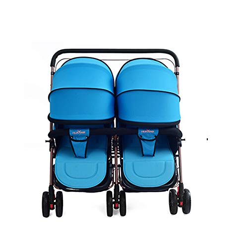 MOIMK 300D Oxford Tuch Doppel Kinderwagen Abnehmbare Faltbare Leichte Federung...