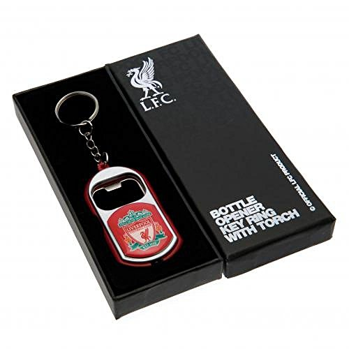 Official Liverpool FC Gifts Car Accessories - Official Liverpool FC Key Ring Torch Bottle Opener - Novelty Football Gift Ideas