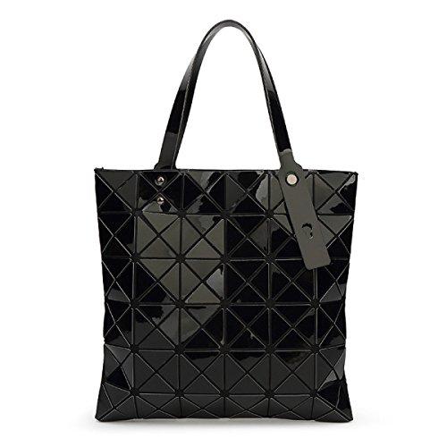 Lady 6 * 6 Forma Romboidale Pacchetto Geometrico Cubo Piegatura Varietà Sacchetto Di Spalla Moda Casuale Borsa Black