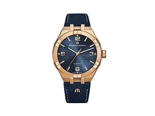 Reloj Automático Maurice Lacroix Aikon, Bronce, 42mm, Azul, AI6008-BRZ01-420-1-1