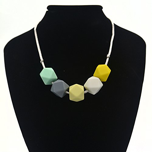 Preisvergleich Produktbild Baby-Silikon-Zahnen-Halskette für Mamma zu tragen (B)