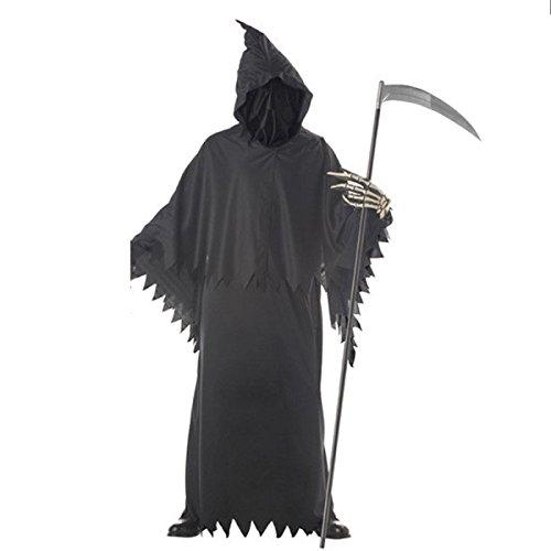 GEXING Cos Halloween Tod Kostüm Weiblich Hexen Männliche Und Weibliche Liebhaber Hexen Geister Kleidung Teufel Kostüm Sense Mantel (Weibliche Männliche Und Kostüme)