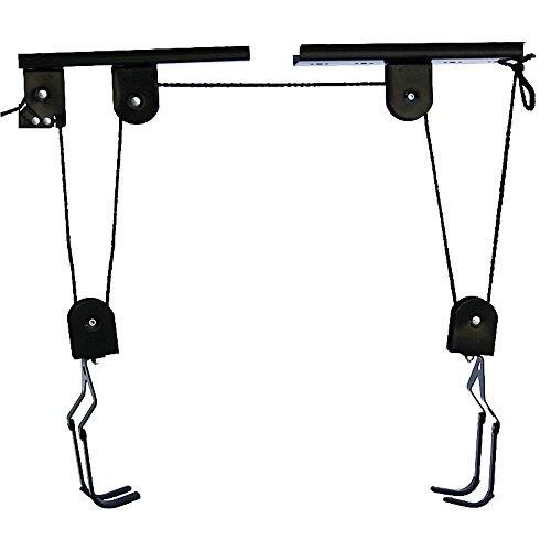 Fahrradaufhängung, Fahrradlift, bis 30 kg, Fahrrad Deckenhalter Bike Lift bis , mit Seilzug, für Garage und Keller, schwarz