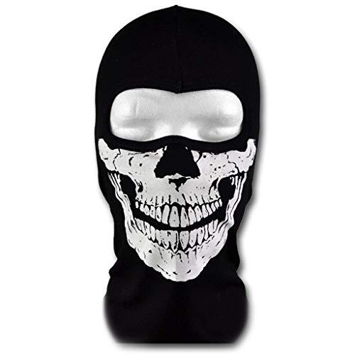 NANLAI Call of Duty Geister Schädel Maske Sturmmaske Totenkopf Schwarz Skull Maske für Motorrad Fahrrad Ski Paintball Gamer Karneval Kostüm ()