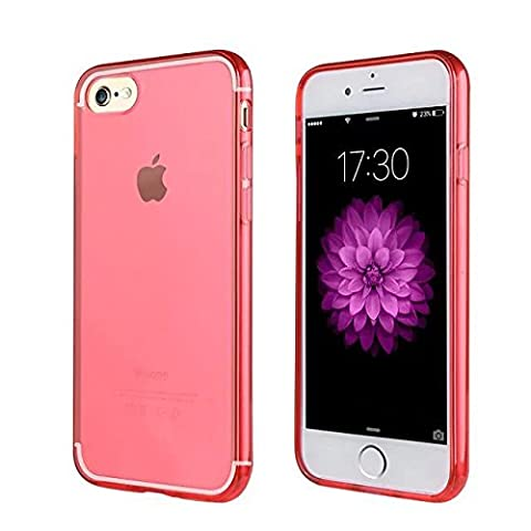 Coque de protection pour iPhone 7 RED, The Flame Store en silicone (TPU) Lisse Protection Slide Anti Case Complete Ultra-Thin Slim