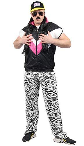 rren Jogginghose im Zebra Look für Jungen Kostüm - schwarz Weiss - Größe L/XL ()