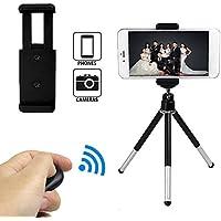 ankier Fotocamera Treppiede Kit per cellulare, fotocamere digitali e video con supporto universale per cellulare e telecomando wireless Bluetooth otturatore della fotocamera