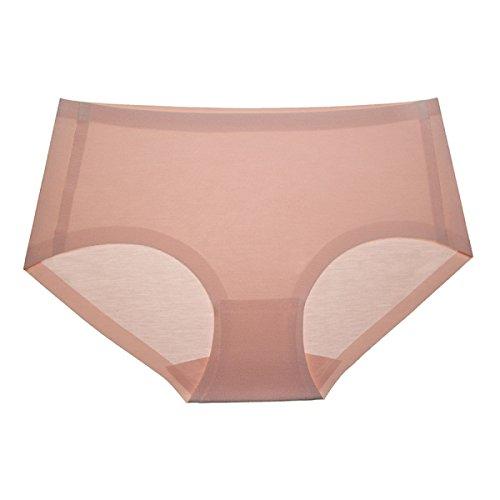 POKWAI Frauen-Unterwäsche Modal Stoff Incognito Comfortable Waist Briefs Hosen Reine Farben-Paket-Hüfte-4 Packs A5