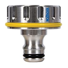 "Hozelock 1"", 33.3mm Pro Metal Outdoor Tap Connector"