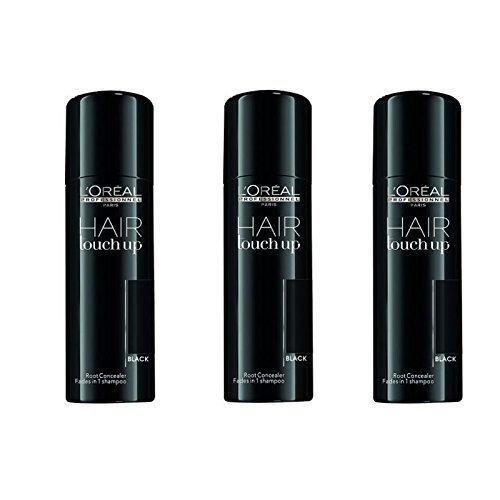 L'Oréal Professionnel Hair Touch Up Black SET 3 x 75ml