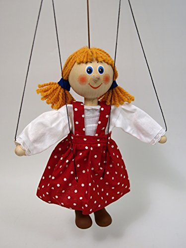 MUBRNO 18102A Mädchen Marionette, Mehrfarbig