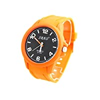 Sbao Homme - Grosse Montre Homme Silicone Orange SBAO 2423