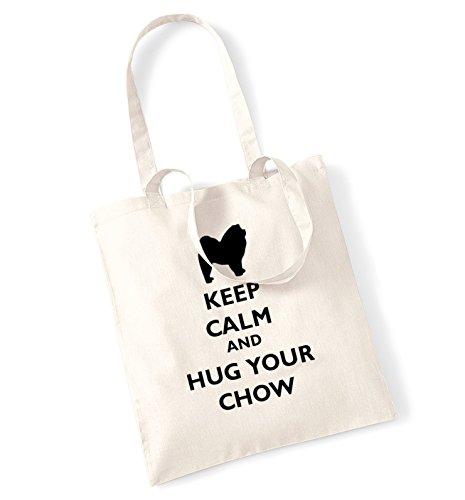 Keep calm and hug la borsa chow natur