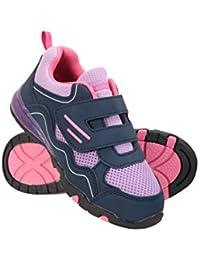 Mountain Warehouse Light Up Zapatos Junior - Zapatos duraderos, Calzado Ligero, Calzado Infantil Transpirable, Ajuste de Gancho y Bucle - para Caminar, Viajar Este Verano