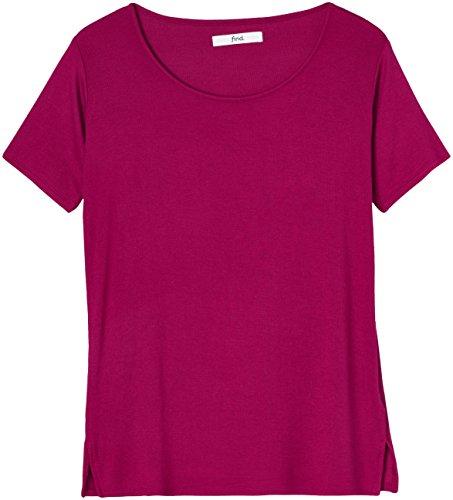 FIND Damen Feinripp-T-Shirt Rot