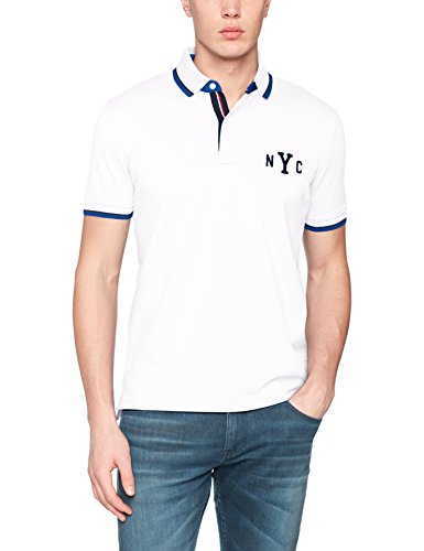 Tommy Hilfiger Herren Poloshirt WCC Avery Tipped Polo S/S RF Weiß (Bright White 100)